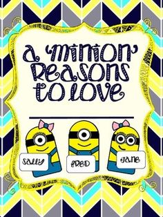 These+cute+little+minions+are+perfect+for+your+back+to+school+bulletin+board!+Label+each+minion+with+your+students'+names,+and+display+them+under+the+title+A+'Minion'+Reasons+to+Love+_____+Grade!+