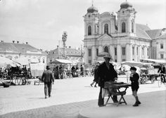 Timisoara - 1937 Old Pictures, Old Photos, Vintage Photographs, Romania, Places To Visit, Louvre, Street View, Photography, Dan