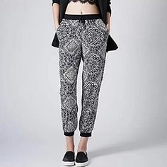 Women's Casual/Print Stretchy Loose Pants ( Cotton Blends ) – USD $ 14.99