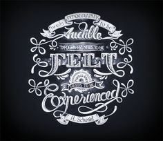 Blackboard by Aurelie Maron #handlettering #typography #chalk