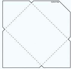 4 and 3/4 inch Square Envelope template by stampztoomuch