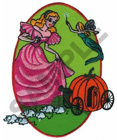 Great Notions Embroidery Design: CINDERELLA 4.07 inches H x 3.28 inches W