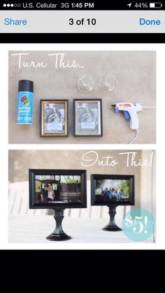 DIY Picture Frame Centerpieces | DIY Picture Frame!