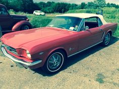 1964.5 Ford Mustang Convertible. From ebay? Oh, NOW I'm in trouble!! ;-) {GM}