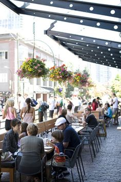 A Western Canadian twist on the Biergarten, the Yaletown Brewing Company.