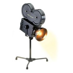 Now this is sweet and my we could use this in our 'man-cave' in our basement. It looks like a projector but it is really a light. #Projector #Accent #Lamp.
