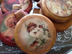 FotoPastel: Paso a Paso, decoracion galletas de Navidad Vintage con papel de azucar