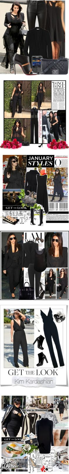 """""""Kim Kardashian's Completely Pitch-Dark Wardrobe"""" by polyvore-editorial ❤ liked on Polyvore"""
