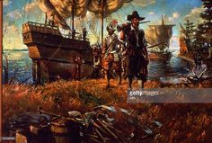 A Short History of Jamestown - Historic Jamestowne Part of Colonial National Historical Park (U. King Painting, Oil Painting On Canvas, Us History, American History, Family History, History Timeline, Jamestown Colony, Jamestown 1607, The Settlers