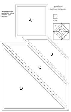 Printable English Paper Piecing Templates | template for hand piecing and fabric cutting template for english