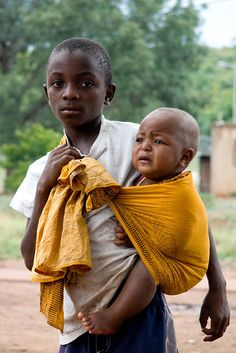 Brotherly love in Goba, Mozambique.Photo by: E.B. Sylvester