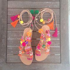 Nepal boho sandals by Ilgattohandmade on Etsy https://www.etsy.com/listing/264035227/nepal-boho-sandals