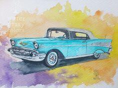 El Chevrolet turquesa marijoepintora.blogspot.com