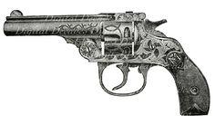 antique victorian revolver