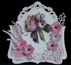 Voorbeeldkaart - Bloemen - Categorie: Stansapparaten - Hobbyjournaal uw hobby website