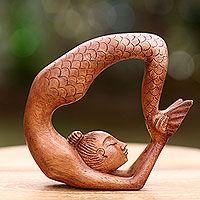 Mermaid Sculpture, Sculpture Clay, Mermaid Makeup, Mermaid Art, Balinese Cat, Mermaids And Mermen, Merfolk, Wood Art, Wood Wood