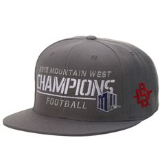 San Diego State Aztecs Top of the World 2015 Mountain West Conference Football Champions Locker Room Snapback Adjustable Hat - Gray - $22.99