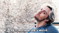 He's fast and she's weird Pietro and Wanda Maximoff Avengers Age of Ultron. Marvel Dc Movies, Marvel Heroes, Marvel Avengers, Marvel Comics, Age Of Ultron, Scarlet Witch, Guardians Of The Galaxy, Marvel Universe, X Men