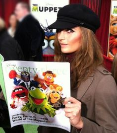Stana Katic with Muppet stuff! Love her!