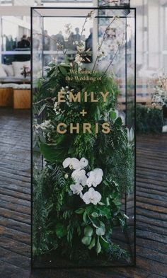 6 modern signage systems for a contemporary wedding . - 6 modern signage systems for a contemporary wedding # signage systems # contempora - Perfect Wedding, Dream Wedding, Wedding Day, Decor Wedding, Wedding Bride, Elegant Wedding, Modern Wedding Decorations, Modern Wedding Ideas, Contemporary Wedding Decor