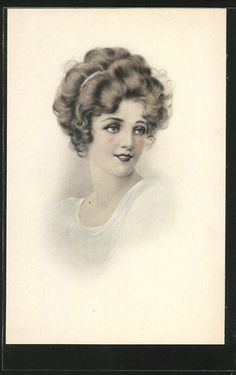 Ladies / Woman without hat | Ladies / Woman / Fashion | Page 8 | old Postcards
