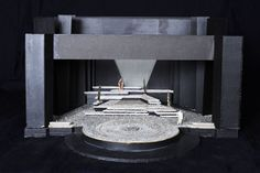 John Ferguson – Design for The Oresteia of Aeschylus, directed by Robert Lowell, NAC Theatre, 1983 Stage Set Design, Set Design Theatre, Scenography Theatre, Theatrical Scenery, Scenic Design, Design Model, Lighting Design, Architecture Design, Design Inspiration