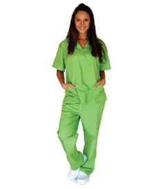 The unisex 6 Pocket Scrub Set features a 2 pocket V-neck top with set-in sleeves, 2 lower pockets and side vents. The pants are straight leg, back elastic waist pant with drawstring front with 2 side and 2 back pockets. Discount Scrubs, Cheap Scrubs, Lab Coats, Medical Uniforms, Medical Scrubs, Scrub Sets, Elastic Waist Pants, Men In Uniform, Orange Is The New Black