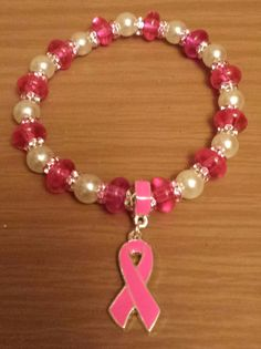 Pink and white breast cancer awareness by THEACCESSORIEDOLL