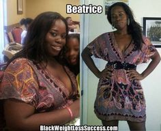 Beatrice lost 84 pounds