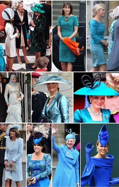 Fashion of the Royal Wedding.. The green/blue hues!