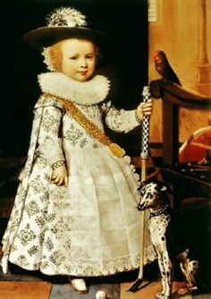 Jan Anthonisz von Ravesteyn, portrait of a young Boy with a Golf Club and Ball, 1628 - private collection