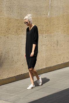Black midi dress | Women's Look | ASOS Fashion Finder