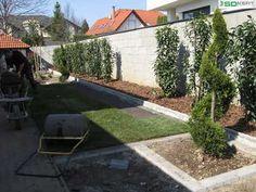 Fűvesésítés gyepszőnyeggel - kerttervezés, kertépítés ötletek Sidewalk, Facebook, Plants, Side Walkway, Walkway, Plant, Walkways, Planets, Pavement
