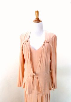 Vintage Long Peach Dress / Mother of the Bride / by VintageEdition, $58.00