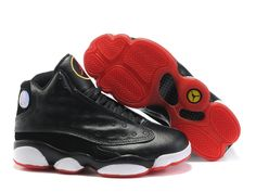separation shoes 3fd1f ee5c3 Chaussures Air Jordan 13 Noir  Blanc  Rouge  nike 10048  - €60.85
