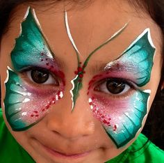 Yolanda Bartram christma face painting butterfly
