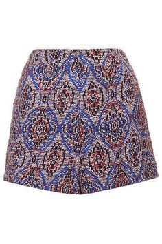 tile beaded shorts