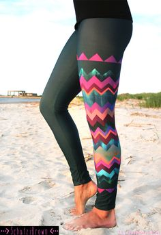LEGGING 'LIDO WEST Chevron' Style Legging for by SchatziBrown