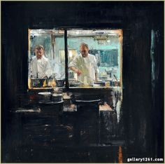 "Quang Ho   ""Windows II""   Oil, 30 x 30"""