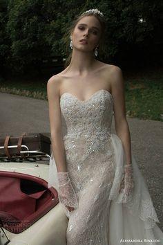 alessandra rinaudo 2016 bridal tasha strapless sweetheart lace wedding dress close up embellished bodice