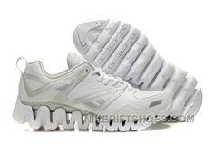 52308a5683f403 Reebok ZigTech Mens Leather White Silver Lastest N8RJC