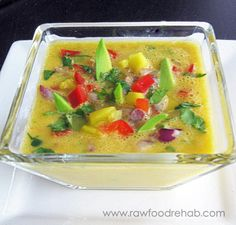 Foodie Friday - Simple Mango Gazpacho - Raw Food Rehab