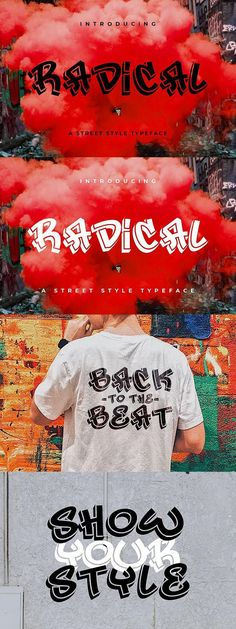 FREE Font: Radical #typeface #FreeDesign #design #style #behance #graphic #freefonts #street #FreeGraphics #graffiti #design #free #GraphicDesign #font #free #logotype #freebie #radical