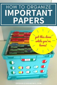 How to Organize Important Paperwork – Organizing Moms – office organization at work desks Office Organization At Work, Clutter Organization, Home Office Organization, Paper Organization, Household Organization, Office Ideas, Organizing Important Papers, Organizing Paperwork, Organizing Tips