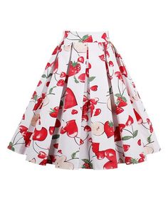 Another great find on #zulily! Red Strawberry A-Line Skirt #zulilyfinds