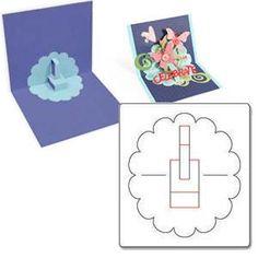 Sizzix - Bigz Die - Karen Burniston - Card, Scallop Circle Pop-Up