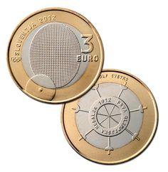 Il 3 Euro Slovenia Olimpica Piece Euro, Euro Coins, Euro 2012, World Coins, Stamp, Collections, Blazer, Vintage, Italian Lira