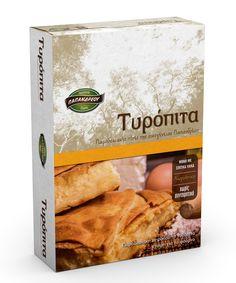 Packaging - Cheese pie - Σχεδιασμός συσκευασίας
