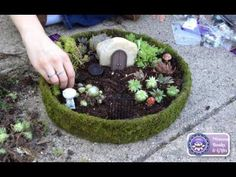 How to make a Fairies Garden cute miniature - DIY fairy house with coke bottle - Isa ❤️ - YouTube