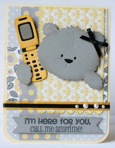I scrap my way Baby Scrapbook, Scrapbook Cards, Kids Cards, Baby Cards, Bear Card, Animal Cards, Punch Art, American Crafts, Big Shot